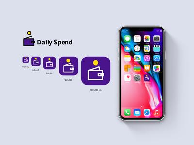 Daily Spend App. app logo ux ui logotype icon