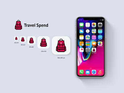 Travel Spend App. app vector ux ui logo icon
