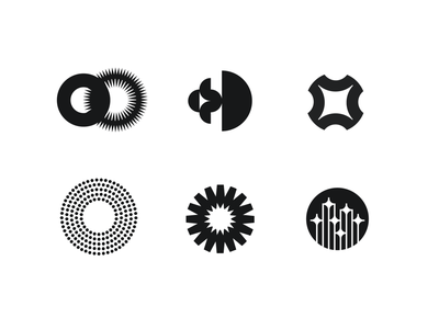 Logo options for a project. Main theme is the sun. sign branding vector icon logotype graphic design logo