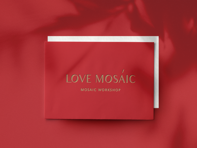 Lovemosaic certificate. printdesign mockup vector branding logotype design