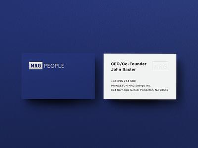 NRG People bussines card mock up. mockup bussines card branding vector logotype graphic design logo