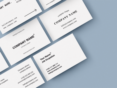 Business Card Print Template.