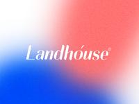 Logo for construction company Landhouse.