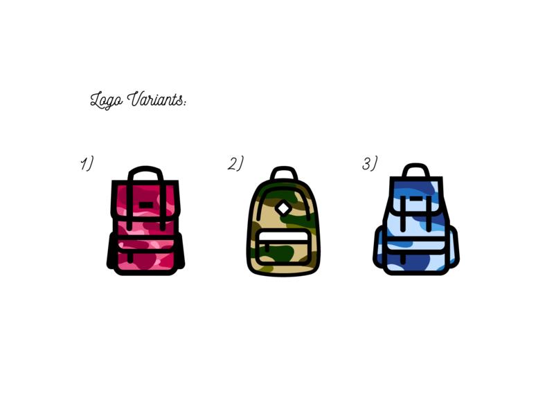3 variants for Travel Spend logo. icon logo design vector web graphic logotype