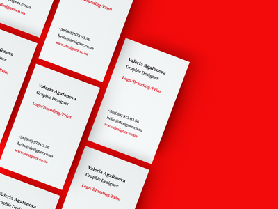Personal business card. typography graphic design mockup print design business card