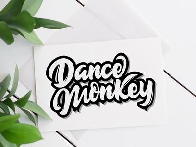 dance monkey lettering logo