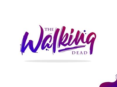 the walking dead lettering