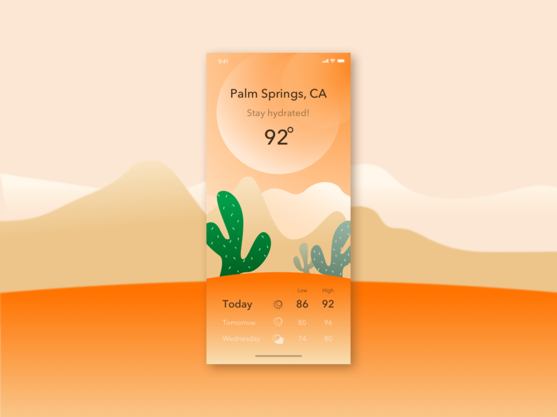 Weather app design app vector icon photoshop art illustration design challenge design ui challenge
