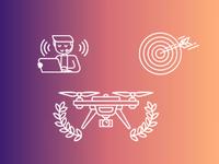 Random graphics for a drone site