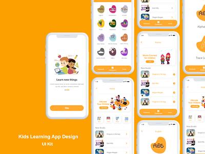 kids learning app design screens ios template design uuiux app design app learning kids