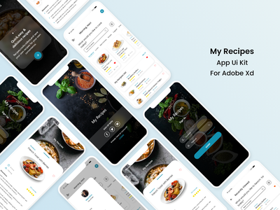My recipes App design recipes