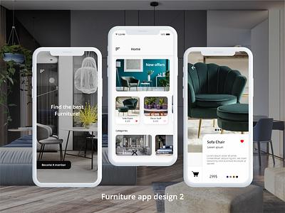 Furniture App Design 2 templates ios app