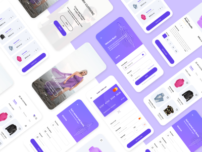 Clothing App Design design template screens uiux ios designuiux app ecommerce clothing