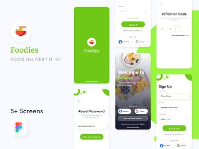 Foodie App On Boarding Screens app design restaurant template screens ios app ui design ux food