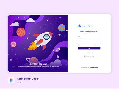 Login Screen Design clean minimal sign up template ux ui design screen login