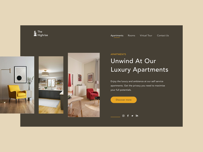 Luxury Apartments landing page design landing page website minimal web design ui