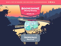 Booneshine Tropicpale Beer Can