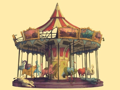 amusement park drawing art artwork artist design animation animation design illustration illustrations photoshop