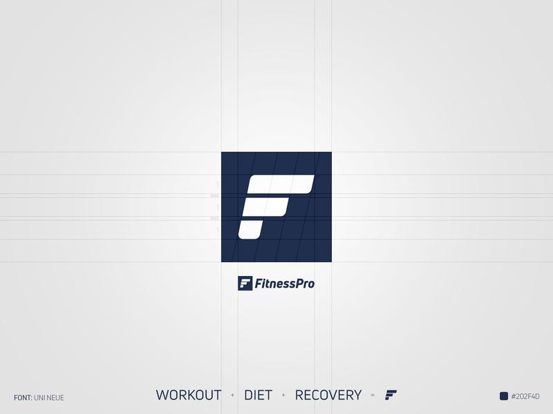 FitnessPro Logo design branding logo