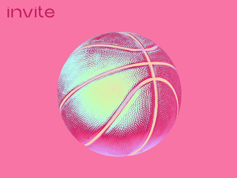 One dribble invite! Be quick graphic design dribble invitations invite dribble invite