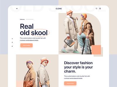 e-commerce web landing page uiux landing page design landingpage ui fashionlandingpage fashion ecommerce minimal modern design webdesign landing page design