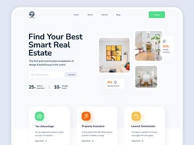 Real Estate Company Landing Page web uiux landing page ui minimal webdesign design modern design realestateagent realestate landing page design