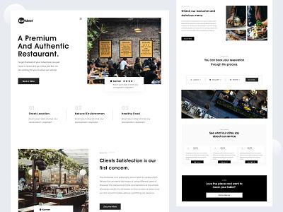 Eat-Meet- Restaurant Website Design food website trendywebdesign minimal ui landingpage design webdesign modern design landing page design foodlandingpage restaurantlandingpage foodweb restaurantweb