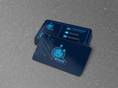 tech business card technology tech business cards business card design businesscard business card business brand identity brand flat vector illustrator illustration concept branding design creative