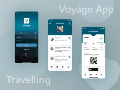 Voyage App app ux ui travelling moblieapp