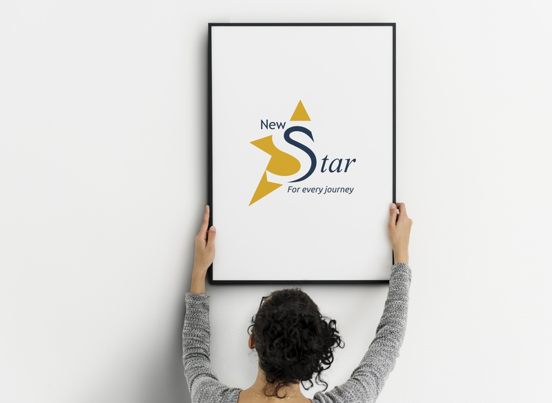 New Star Bag Company logo. branding design logo creative design vector