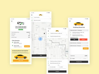 Shared Cab Ride | Design Test Assignment