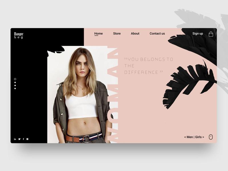 Hanger Log Modern Website✨ clothes shop online shopping online store ux design ui design website design typography minimal flat web ux ui