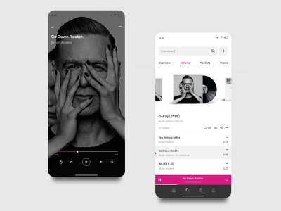 Music Application mobile xd digital design interface animations aftereffects playlist appdesign musicplayer album application app music interaction ui ux animation clean minimal design