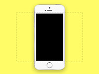 iPhone 5S for Dribbble .Sketch
