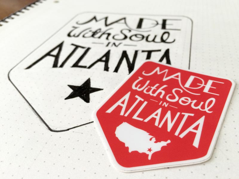 Made With Soul In Atlanta atlanta switchyards hand lettering