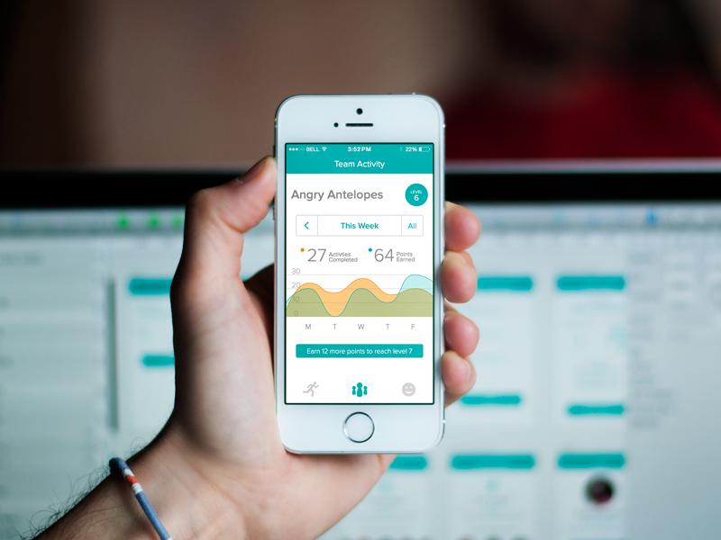 TeamFit - Team Activity ui 352 fitness iphone app 352 inc iphone app