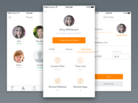 Luma People Views family people profile android ios ui