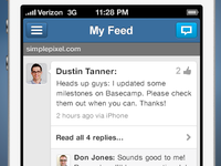 My Yammer Redesign