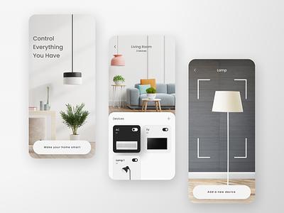 Smart Home App minimal ui app switch minimalism first shot smarthome