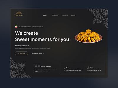Qom Sohan Website webdesign design ui