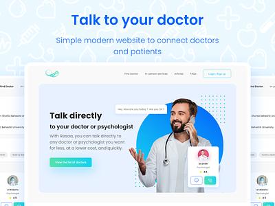 Medical web design project chat wireframe uid uxd ux design ux ui design minimal ui library components design responsive web webdesign service nurse doctor medical branding ui
