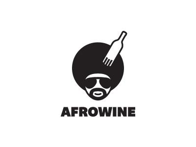 Afro Wine afro wine black face guy glasses disco rap beard mustache bottle morecolor logo branding kamil sadlo