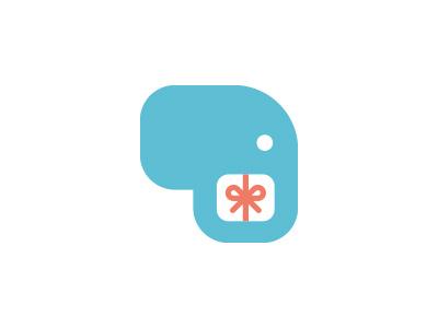 Elephant + gift logo morecolor shop gift animals animal elephant