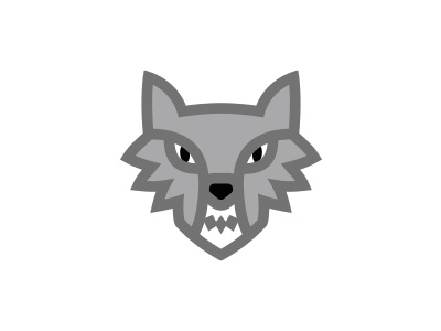 Wolf morecolor logo witcher dog forest animal angry furious wolf