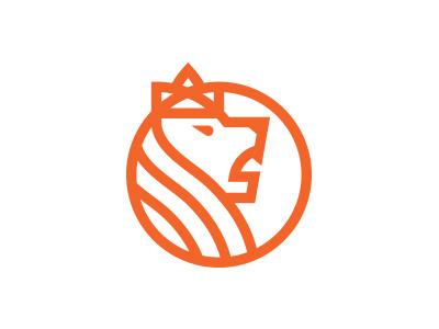 Lion with crown design logo morecolor animals animal coin roar crown lion