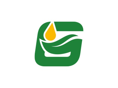 G - Green lubricant logo morecolor leaf green lubricant letter g