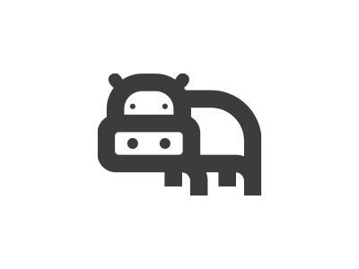 Hippo icon morecolor african africa minimalism logo icon animals animal hippopotamus hippo