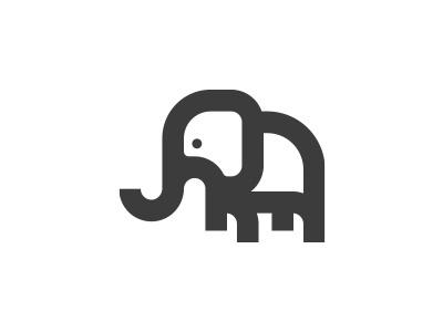 Elephant icon morecolor african africa minimalism logo icon animals animal elephant