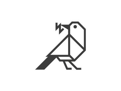 Bird wings minimalism morecolor logo sparrow animal bird