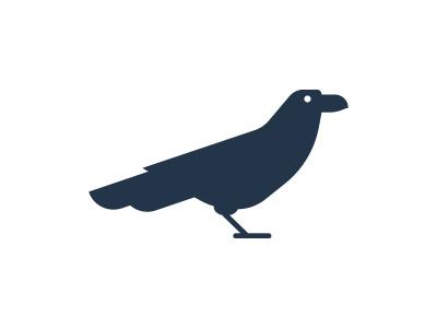 Raven wings minimalism morecolor logo animal bird raven